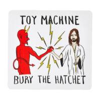 [TOY MACHINE] BURY THE HATCHET ステッカー (H12 x W13)