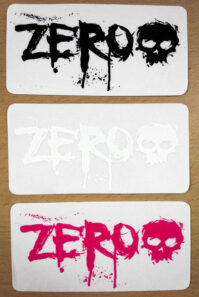 [ZERO] BLOOD #02 ステッカー BLACK (H:6.4 x W:12.8)