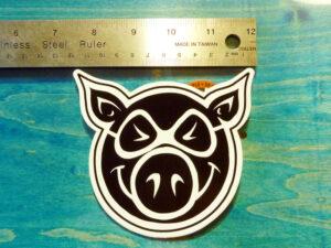 [PIG] PIG FACE ステッカー (H:10.7 x W:11.5)