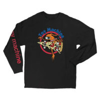 L/S TEE PIZZA SECT (BLACK)