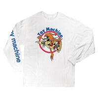 L/S TEE PIZZA SECT (WHITE)